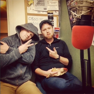 Just before going on the air with Howick Village Radio. Thanks for the opportunity AJ!