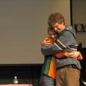 Accepting the Matt Corrgian Award