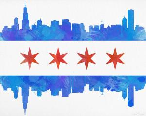 chicago-flag-watercolor-mike-maher