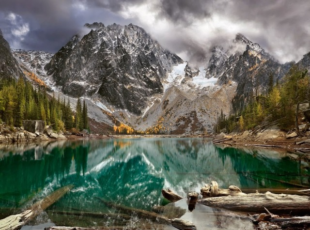 he Enchantments called Colchuck Lake.