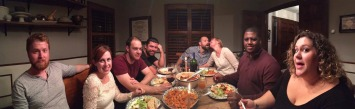 Dinner with Myself, Michelle, Corbin, Dylan, Jake, Heather, Eric, Sarah, and Jeremy