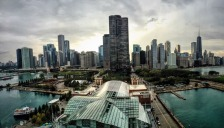 Chicago from the top of the Ferris Wheel