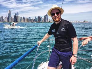 New Emirates NZ sailing team in Chicago