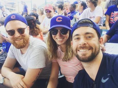 Rich (old roomie) and Suth came to Chicago. Go Cubs!
