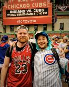 Capturing history in the making. Du came out to Chicago during the World Series